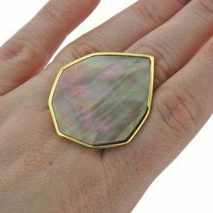 Ippolita Portofino Mother of Pearl 18k Gold Ring